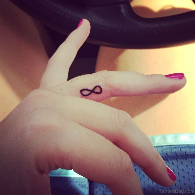 34 cool infinity tattoos for fingers for Finger tattoo cost