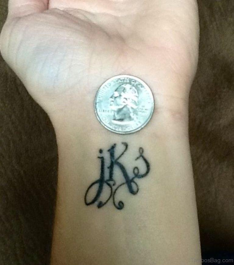 60 pleasing initials tattoos on wrist. Black Bedroom Furniture Sets. Home Design Ideas