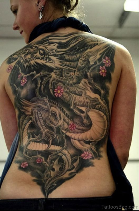 Intricate Dragon Tattoo