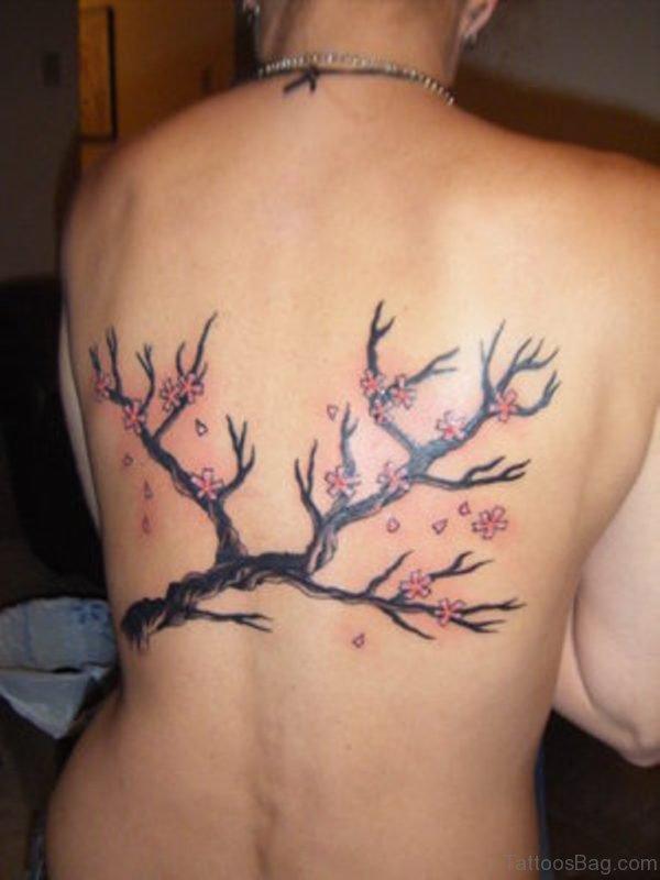 Japanese Cherry Blossom Tattoo Design