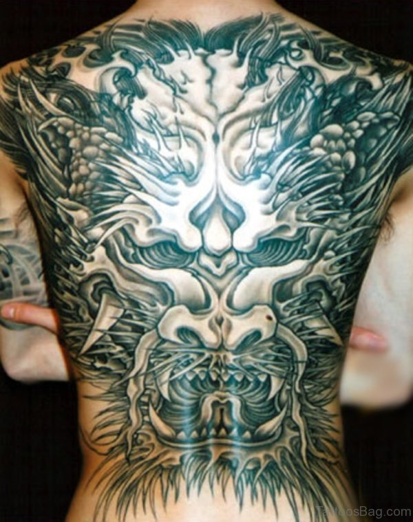 Japanese Devil Tattoo Full Back