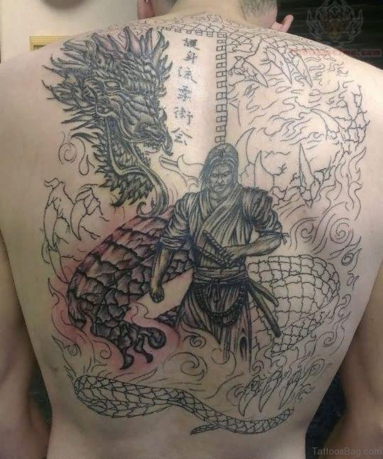 77 graceful dragon tattoos for back for Dragon back tattoo