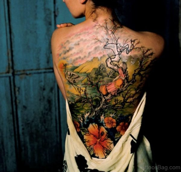 Japanese Flower Tattoo