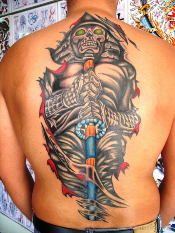 Nice Japanese Samurai Tattoo Design
