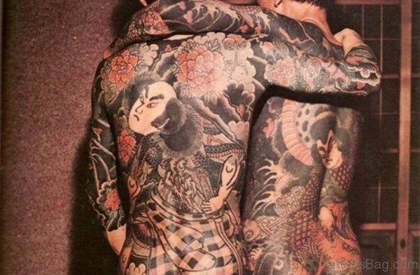 Japanese Tattoo On Full Back