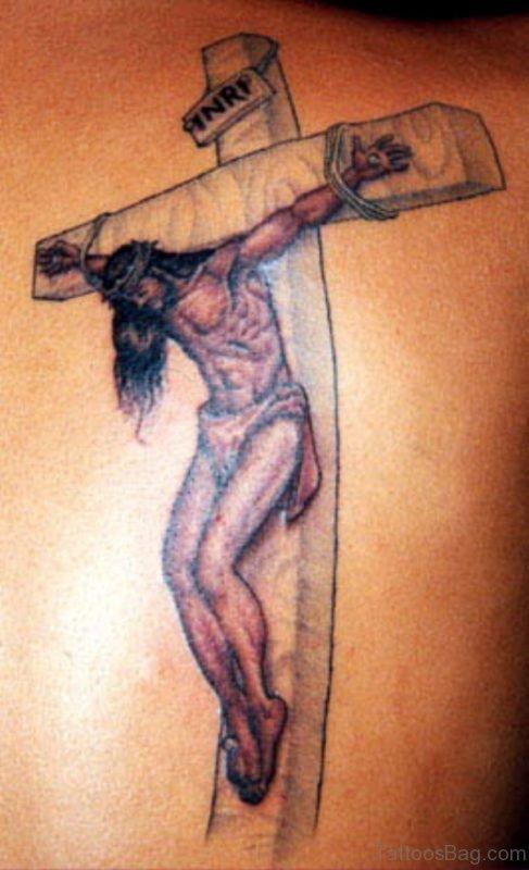 Jesus And  Cross Tattoo