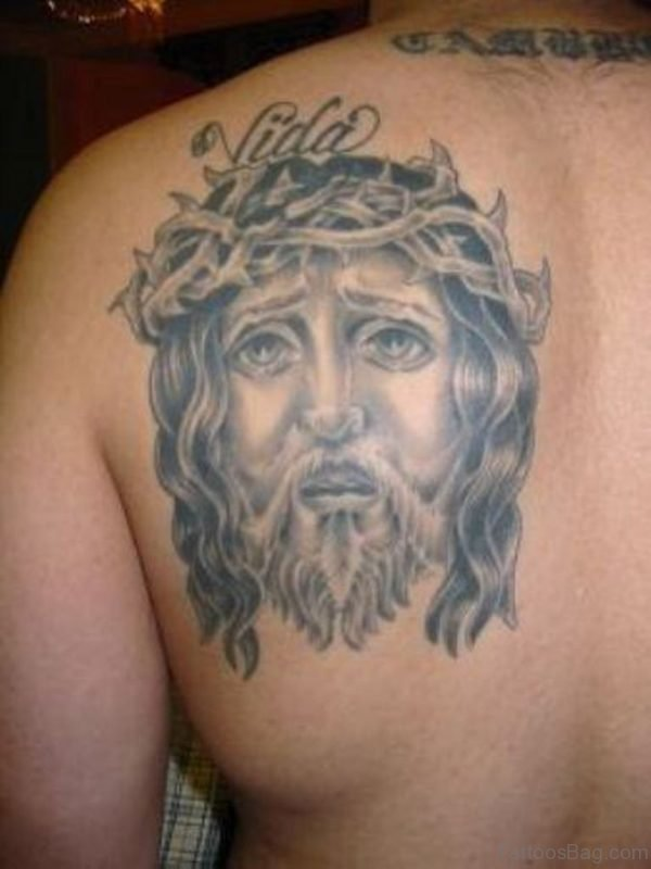 Jesus Face Tattoo Design