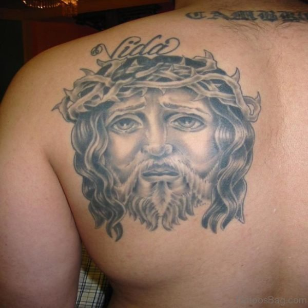 Jesus Face Tattoo