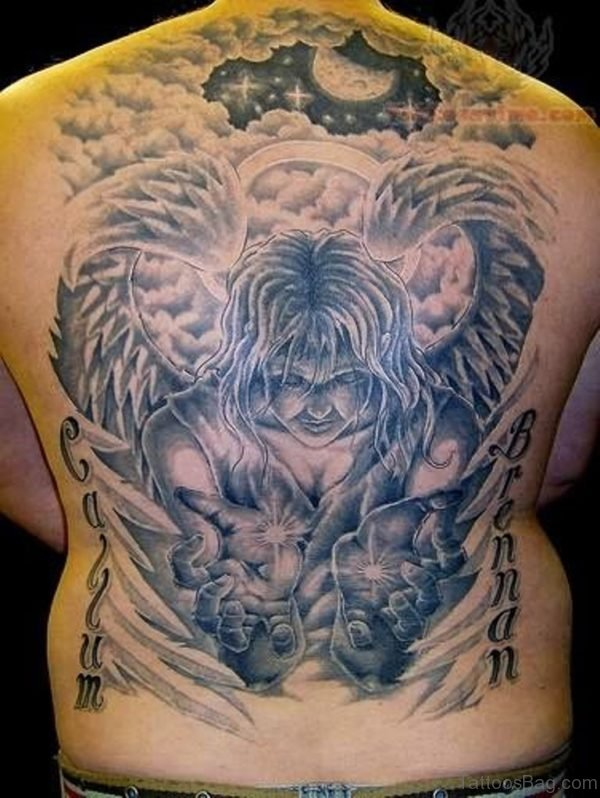 Jesus Full Back Tattoo
