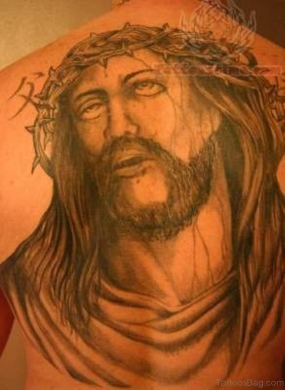 Jesus Tattoo Design On Back