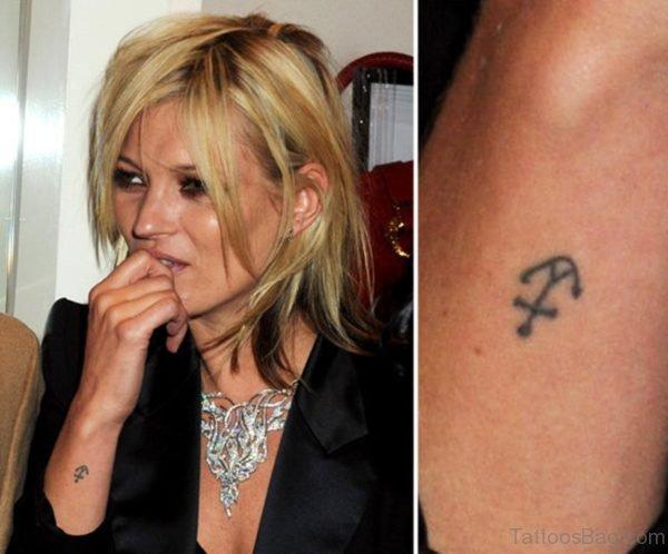 Kate Moss Anchor Tattoo On Wrist