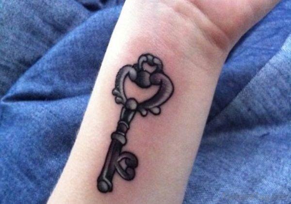 Key Tattoo Design