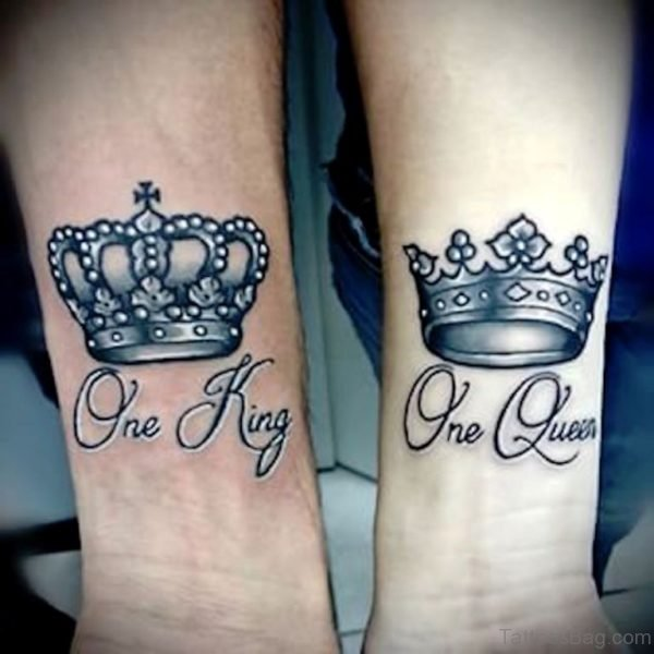 King And Queen Crown Tattoo