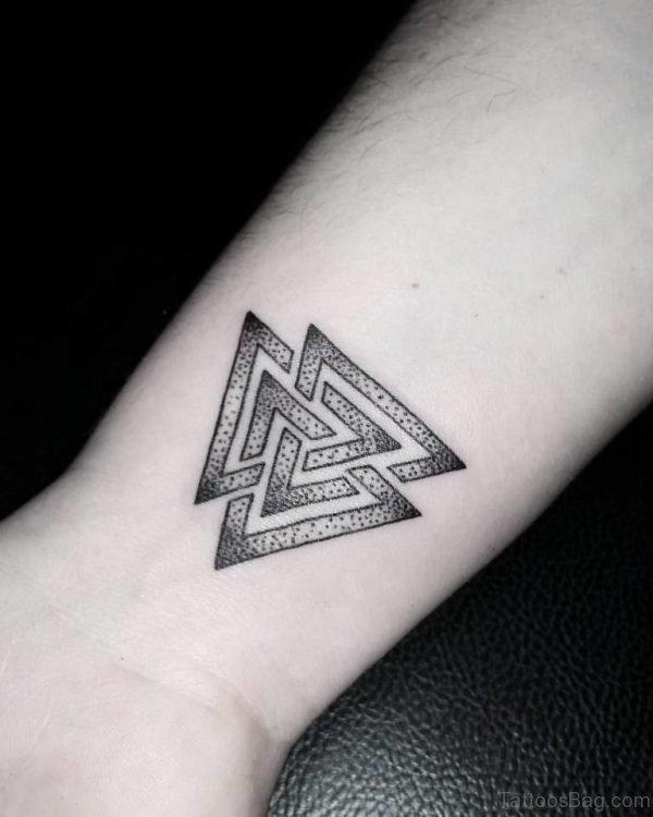 Knot Geometric Tattoo On Wrist