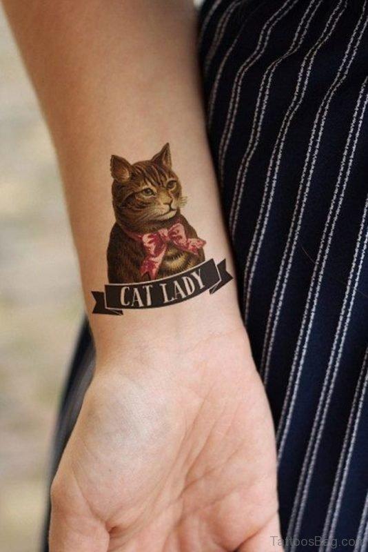 Lady  Cat Tattoo