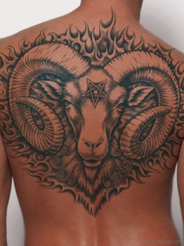 Large Aries Zodiac Tattoo