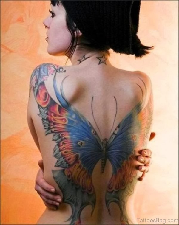 Large  Butterfly Tattoo  Back