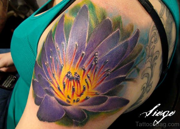 Large Flower Tattoo