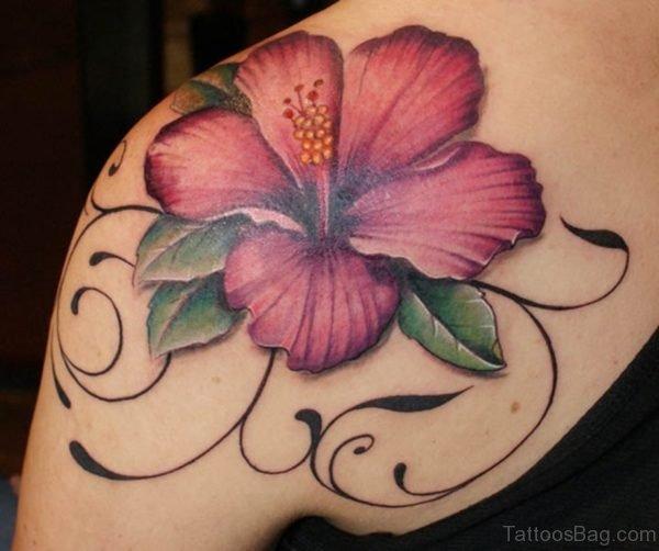 Large Hibiscus Flower Tattoo