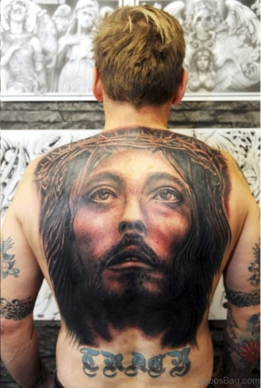 Large Jesus Tattoo
