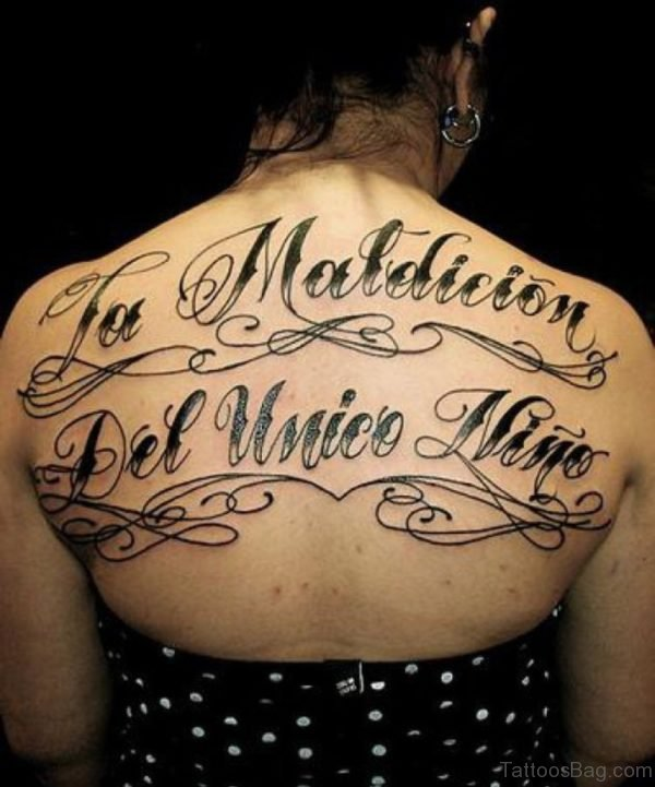 Amazing Lettering Tattoo