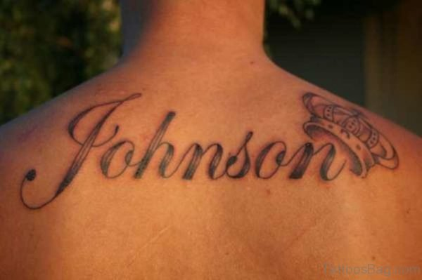 Last Name Tattoo On Back