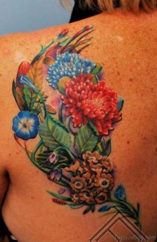 Leaf  And Flower Tattoo