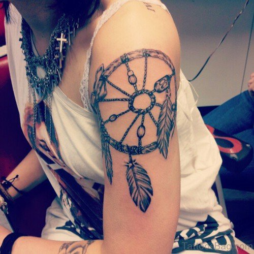 Leaves Dream Catcher Tattoo