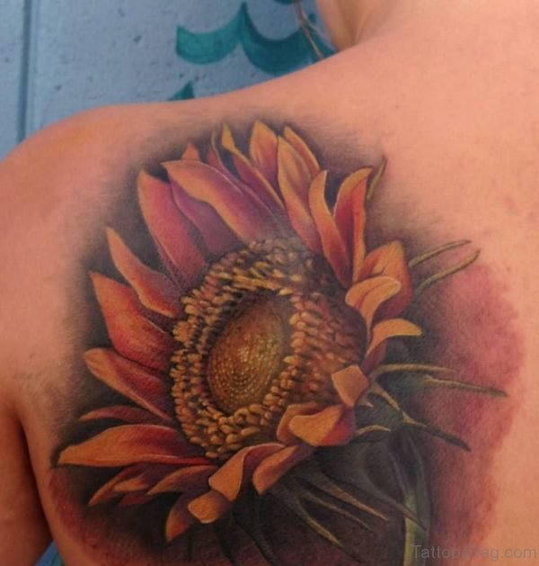 Large Sunflower Tattoo
