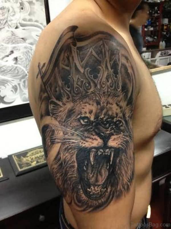 Leo Shoulder Tattoo