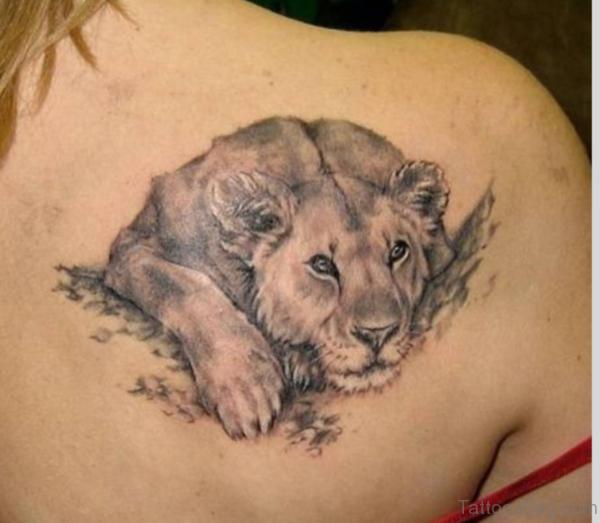 Leo Taurus Zodiac Tattoo On Shoulder