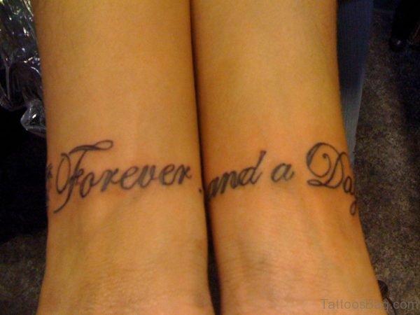Lettering Tattoo Design On Wrist