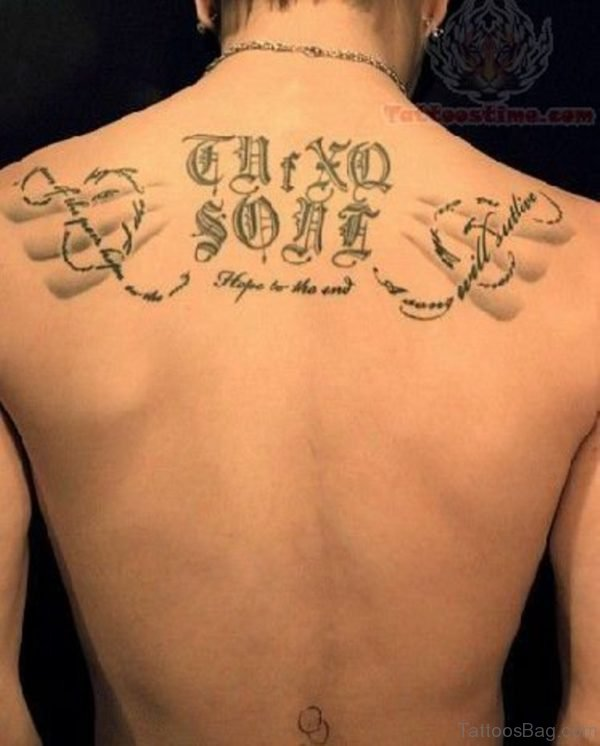 Lettering Tattoo On Back