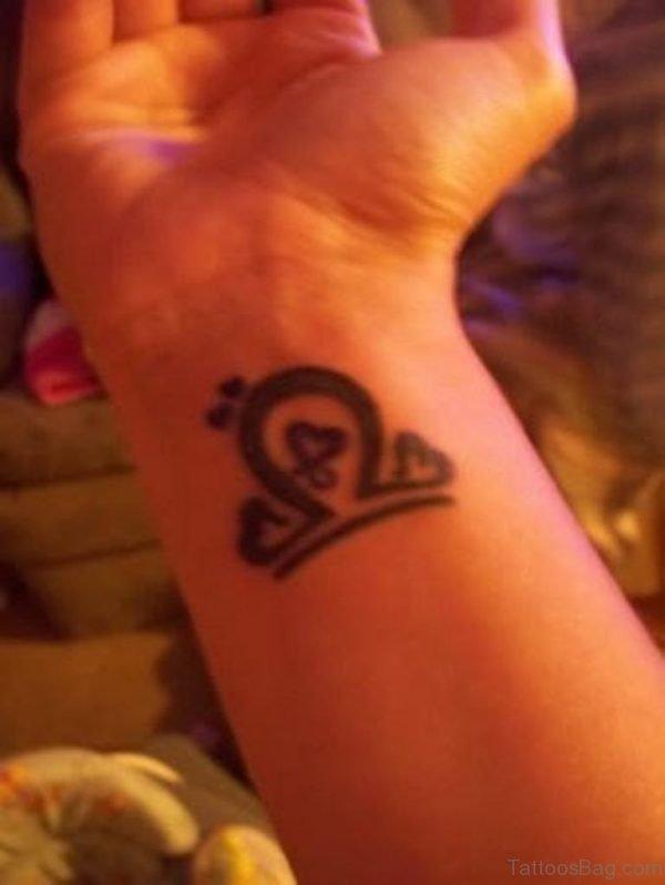Libra Tattoo On Wrist