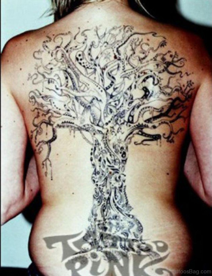 76 tree tattoos for back. Black Bedroom Furniture Sets. Home Design Ideas