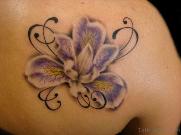 Light Color Hibiscus Flower Tattoo