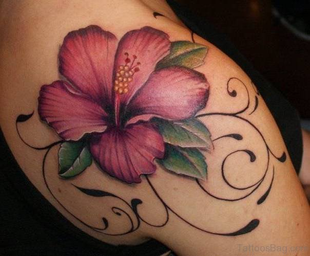 Lily Back Flower Tattoo: 65 Gorgeous Lily Tattoos For Shoulder