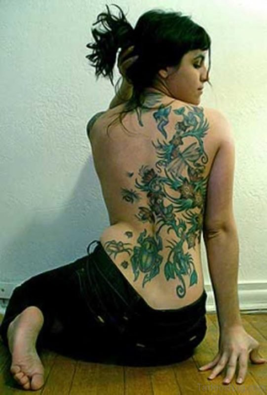 Lily Flower Vine Tattoo