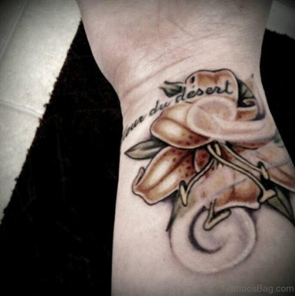 Lily Tattoo On Wrist