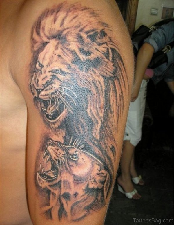 Lion Designer Tattoo