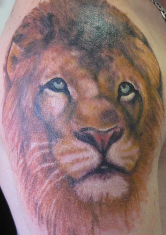 Lion Shoulder Tattoo Design