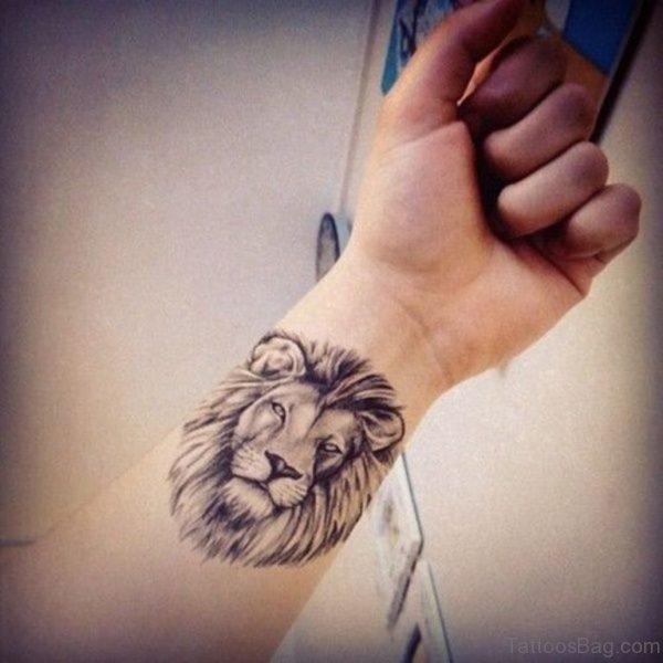 Lion Tattoo On Wrist
