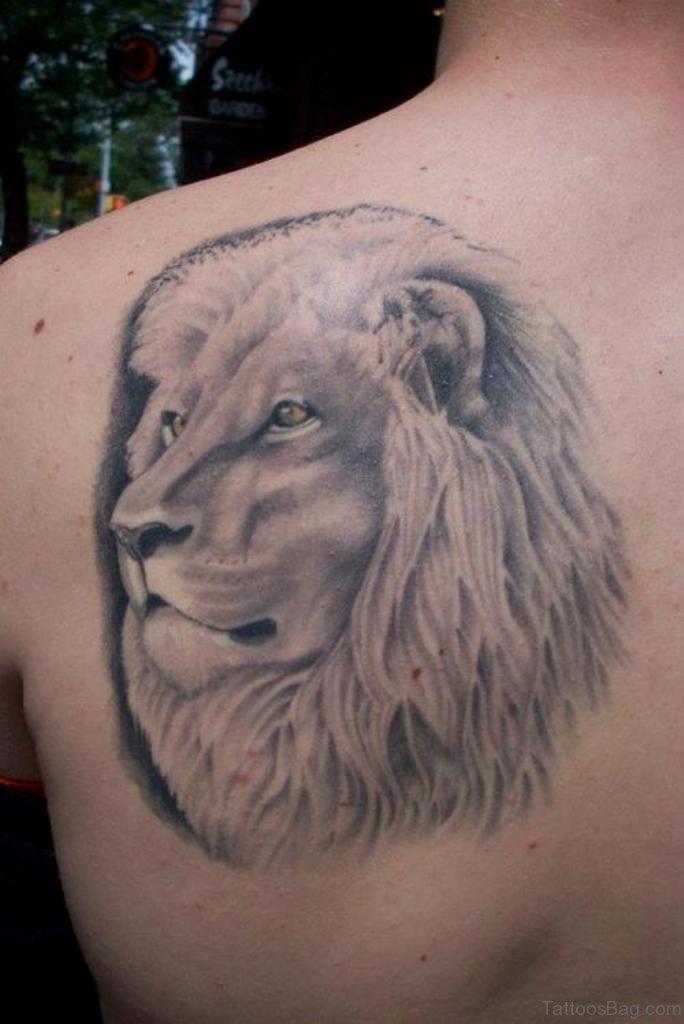 84 wonderful lion tattoos for back. Black Bedroom Furniture Sets. Home Design Ideas