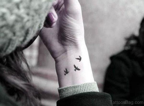 Little Birds Tattoo On Wrist
