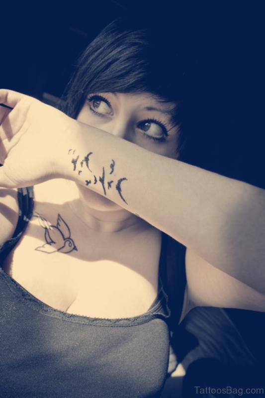 Little Birds Tattoos For Wrist