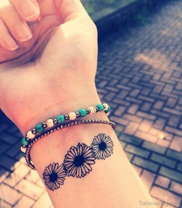 Little Daisy Flower Tattoo
