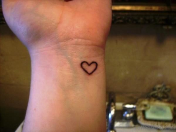 Little Heart Tattoo On Wrist
