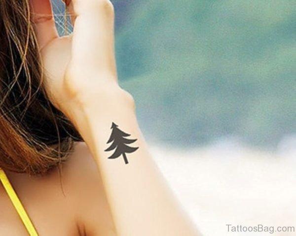 Little Tree Tattoo On Wrist