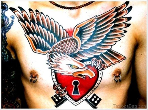 Lock And Eagle Tattoo
