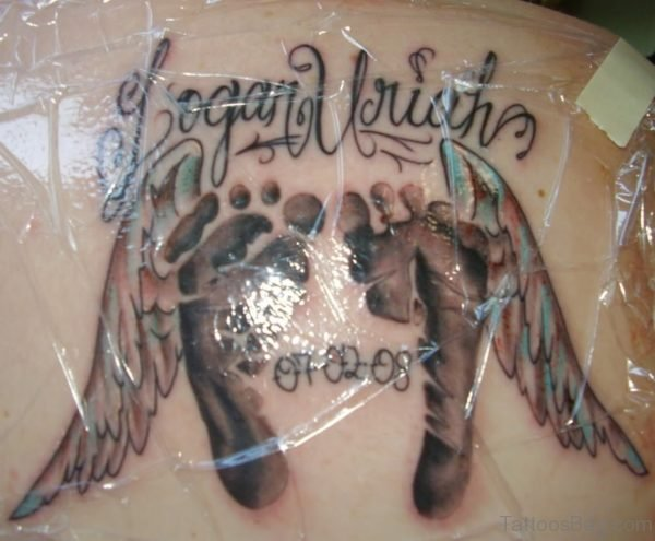 Logan Uriah Memorial Angel Tattoo
